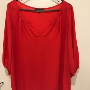 Red, 3/4 sleeve blouse by Glam